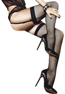 Fishnet Thigh High With Backseam